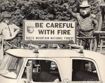 Grampa and Smokey The Bear New Hampshire White Mountains National Forest Digital Art Photgraphy