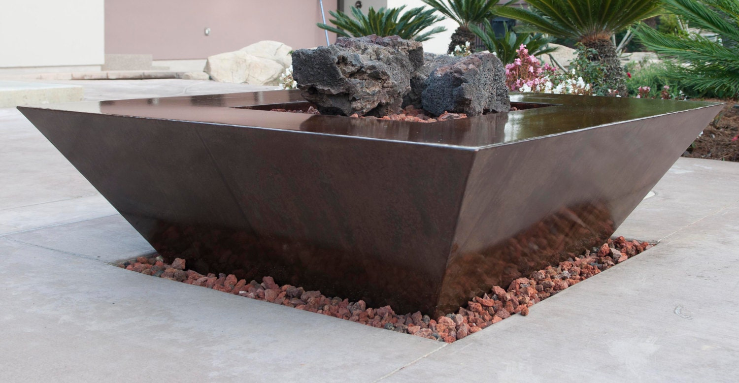 Custom Backyard Fire Pits : Custom Outdoor Gas Fire Pit 46 x 46 and 18 High by haagmade