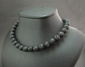 Lava Stone Statement Necklace - Strand Necklace - Choker - Ready to Gift
