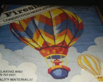 fireside longstitch needlepoint ballooning kit 16x20 frame without mat 20x24 frame with mat sealed