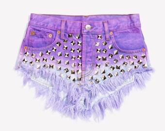 RUNWAYDREAMZ Wunderlust Dream Studded Babe Cut Off Shorts