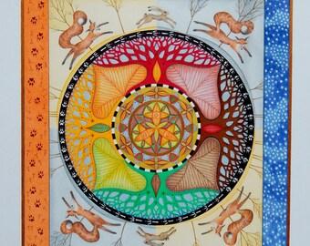 A4 print 'Autumn Mandala'