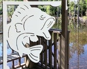 DECORATIVE Large Mouth Bass Corner Bracket Indoor / Outdoor Mailbox, Porch, etc.
