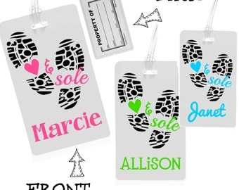 Heart and Sole Luggage Tag