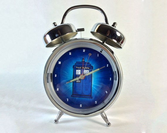 Dr who tardis retro alarm clock by esclairstudios on etsy - Tardis alarm clock ...