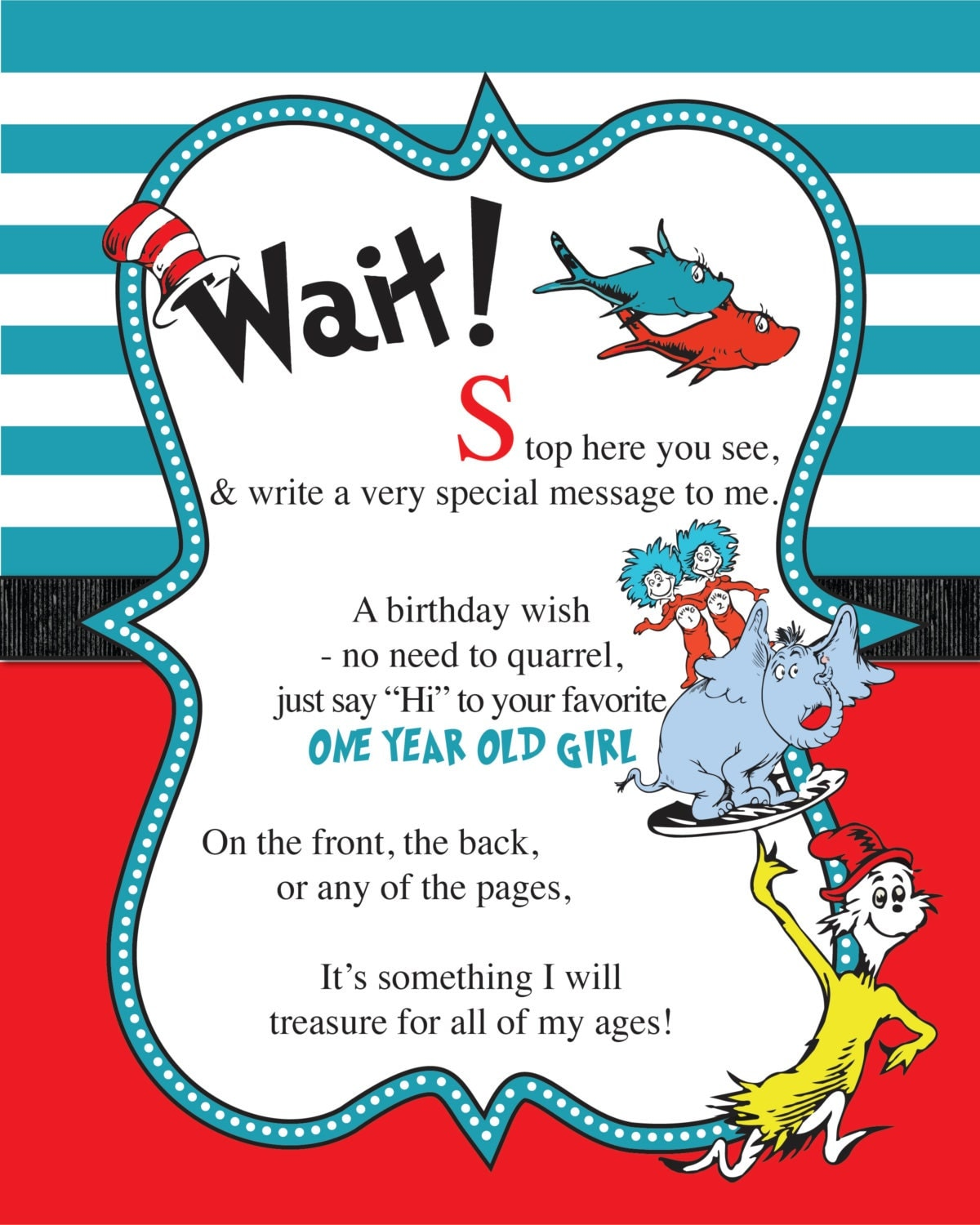 Dr Suess Invites for adorable invitations layout