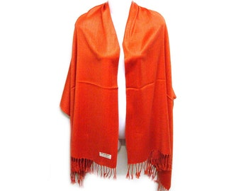 Wedding cover up/ scarf pashmina/ bridal accessories/ bridesmaids gifts/ prom/ gift/ shawl/ ORANGE COLOR pashmina