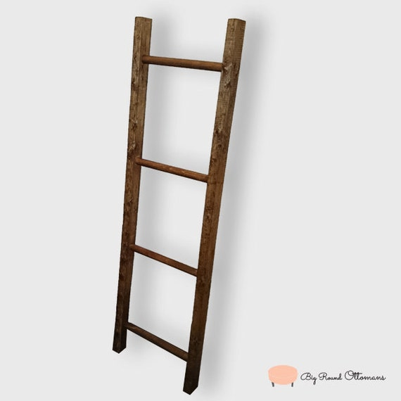 Tinas De Baño Recicladas:Decorative Ladder for Bathroom Towels
