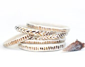 DASH - WHITE LIGHT - Ceramic Stoneware Bangle