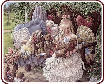 Teddy Bear Tea Party Mouse Pad