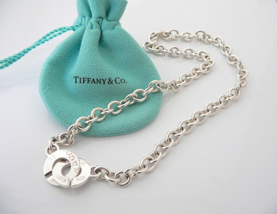 Tiffany co sterling silver 1837 circle clasp necklace tiffany co sterling silver 1837 circle clasp necklace pendant charm chain mozeypictures