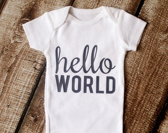 Going Home outfit, Hello World, Newborn Outfit, Baby Shower Gift, Coming Home Outfit, Baby Gift, Boy Clothes