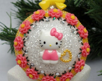 Orange & Yellow Hello Kitty Christmas Ornament