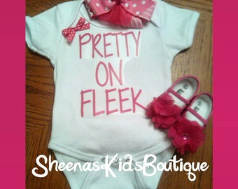 Pretty on Fleek ruffled bottom onesie