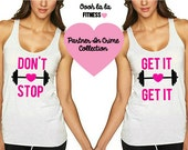 Don't Stop Get It Get It. BFF Tank. Swole Sisters Tank. Workout Tank. Fitness Tank. 2 Pack Set!  Made In The USA!