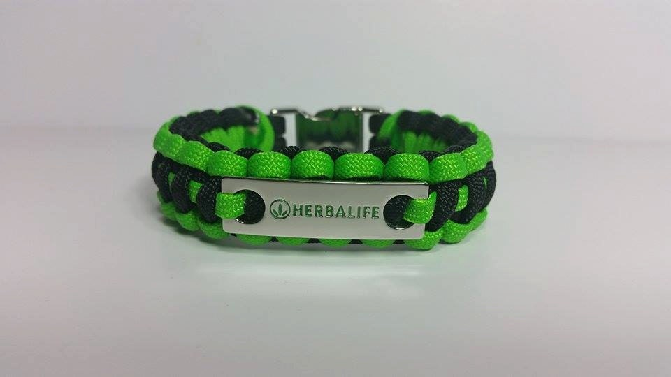 herbalife charm paracord bracelet with metal charm by