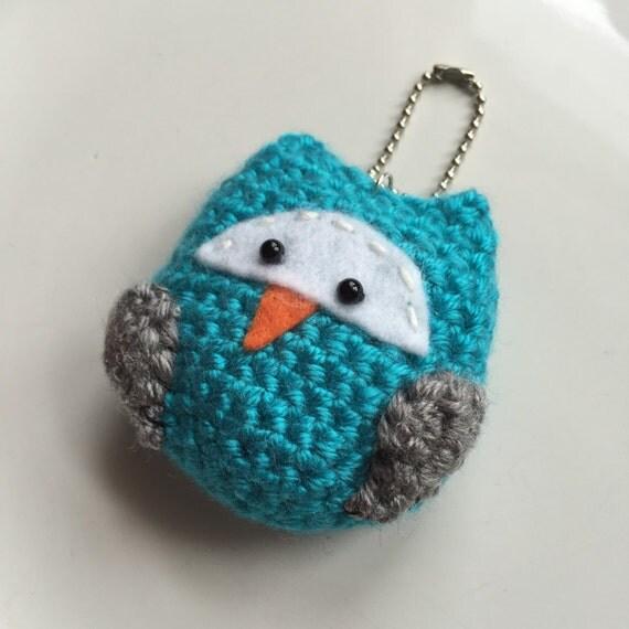 Amigurumi Owl Keychain : Oscar the Owl Crochet Amigurumi Kawaii Keychain / by Moxieana