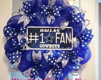 Dallas Cowboys Custom Deco Mesh Wreath