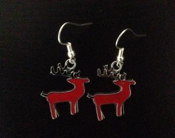 Red Reindeer earrings
