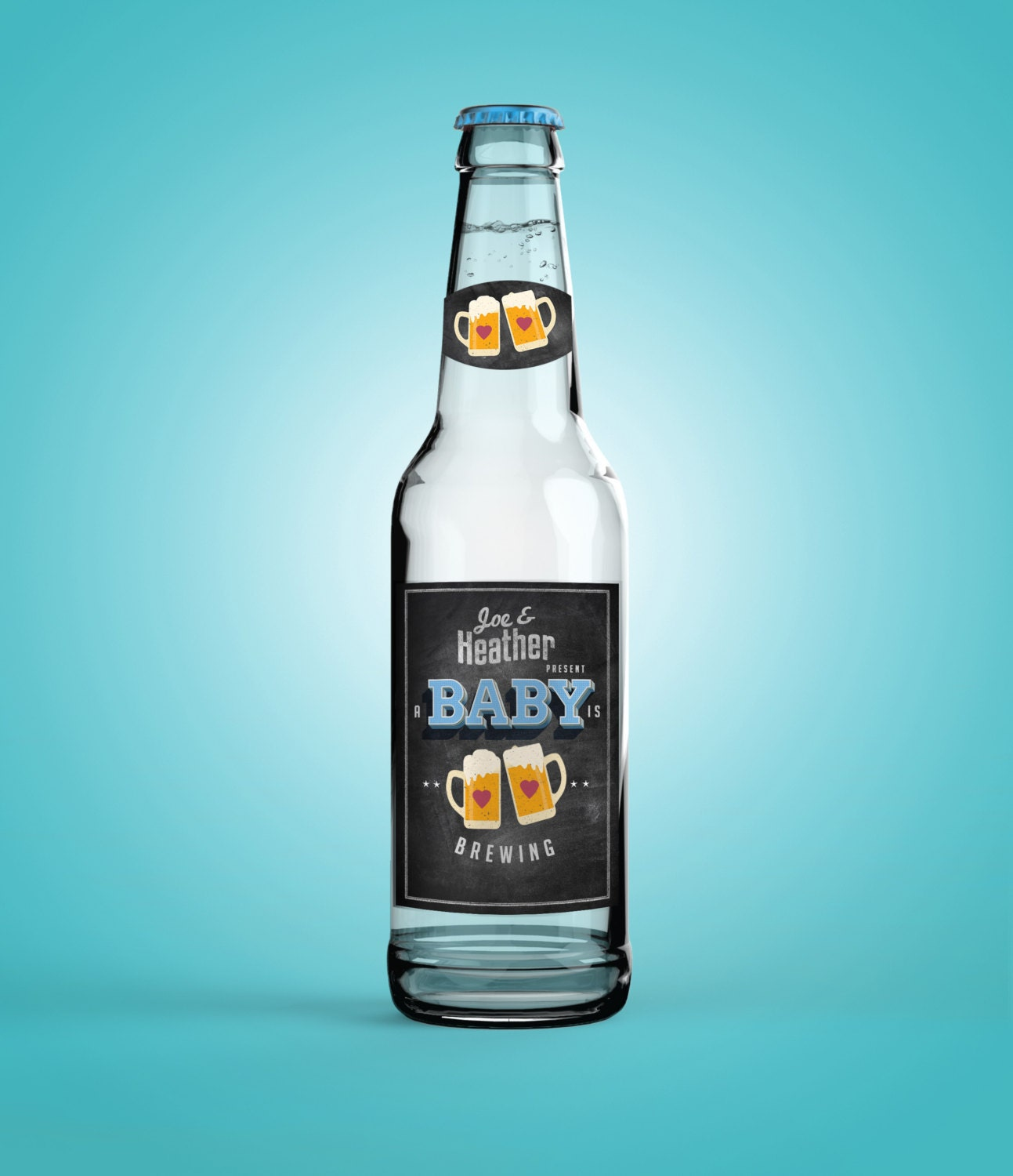 personalized digital beer labels for baby showers