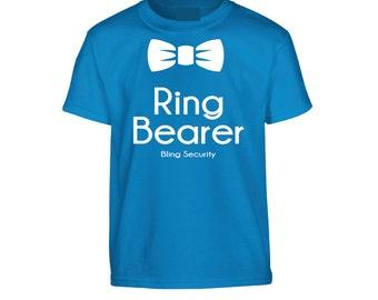 Ring Security Shirt, Ring Bearer Shirt, Ring Bearer Wedding T-Shirt, Children Clothes Ring Bearer tshirt, Youth Wedding shirt #9