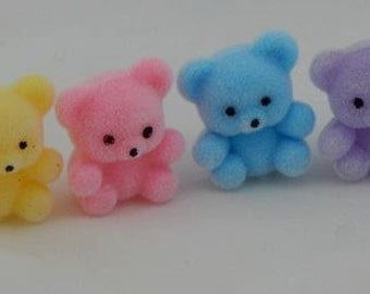 Miniature Teddy Bears 4, Fairy Gardens, Terrariums, Party Favors, Craft Supplies
