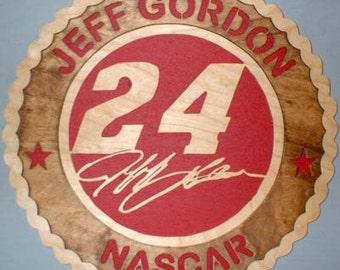 Nascar Jeff Gordon Handmade wall Plaque..Shipped Priority mail