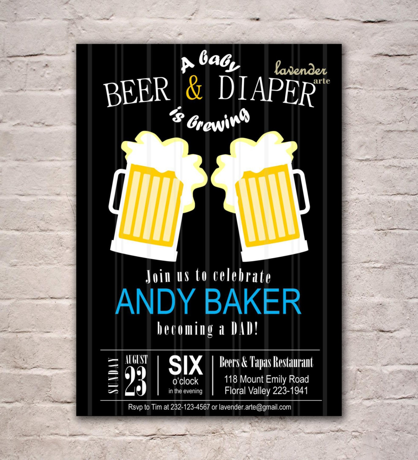 beer and diaper party invitation men 39 s baby shower