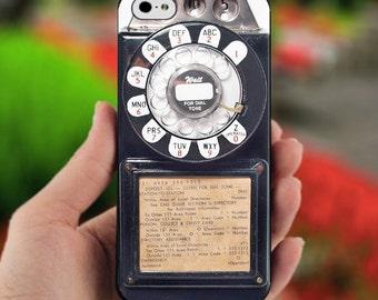 Old Phone Vintage Payphone Apple iPhone 5C 5S 6 6 Plus 7 7 Plus Case Cute Ultra Thin Minimalistic Dye Sublimation