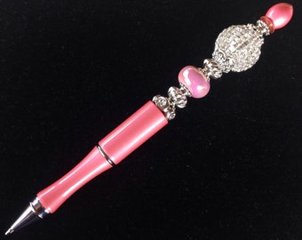 Statement Pen™ Pink Glam Bead Pen