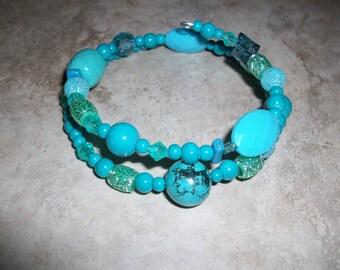 Turquoise Spiral Bracelet