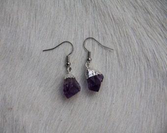 Amethyst Pendant Earrings