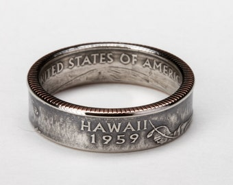 Hawaii State Quarter Ring
