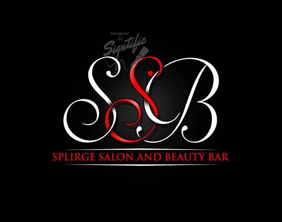 Custom Monogram, Design, Custom Beauty Bar Logo Design, White and Red Logo, Business Brand, Business Sign Logo Design, Initials Logo Design