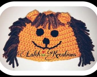 beanie lion hat! roarrrrr!