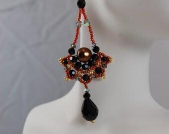 Fan Drop Earrings- Three colors to choose from.