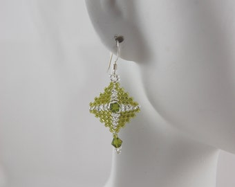 Diamond drop earrings- Four colors to choose from.