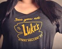 Gilmore Girls Fan T-shirt Luke's Diner Dolman Sleeve Tee Up to 6X!
