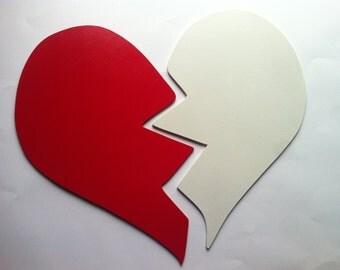 Silhouette broken heart Custom