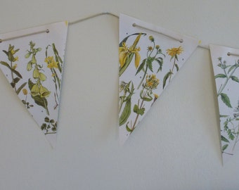 Floral Paper Bunting Yellow