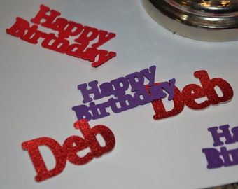 Custom Birthday Confetti, Custom Confetti, Happy Birthday Confetti