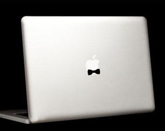 Bow tie Mac Book/Air/Retina laptop vinyl sticker. Decal Made in Australia