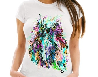 Women's Hoot Tee, Owl T-shirt, Hoot Owl Tshirt, Women's T-shirt, Women's Apparel,