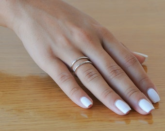 Sterling Silver, Adjustable Ring, Silver Wire Ring, Double Wire Ring, 925 Sterling Silver, Dainty ring