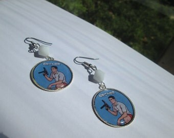 ARCHER  earrings on Surgical Steel Wires / Item G532
