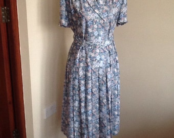 Vintage drop waist summer dress