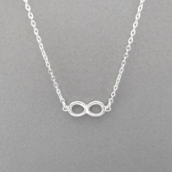 18th Birthday Cz T Bar Sterling Silver Heart Bracelet Can: Tiny Dainty Sterling Silver Infinity Necklace Modern