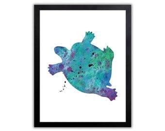 Nautical Nursery Art - Sea Turtle - NA015