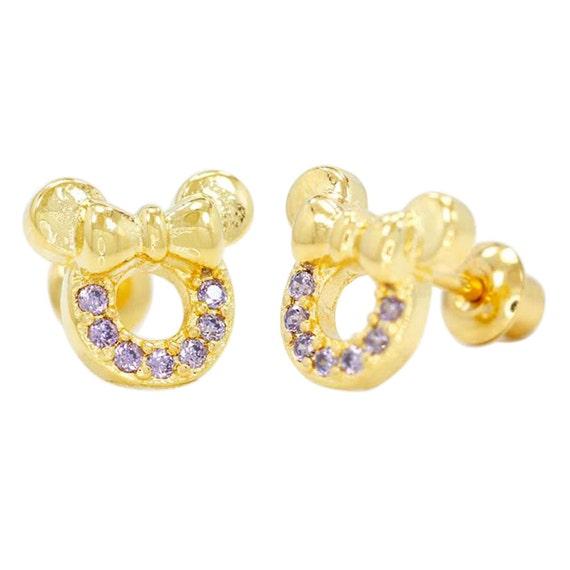 gold filled 18k baby screwback earrings by shopinseasonjewelry