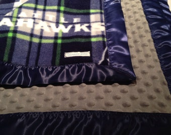 Seattle Seahawks, Mariners and Sounders Satin Bound Fleece Blankets